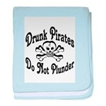 Pirates Red baby blanket