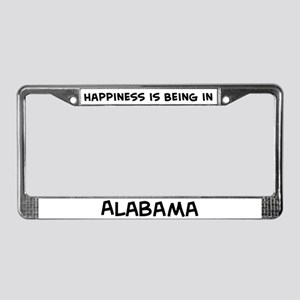 Happiness is Alabama License Plate Frame