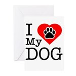 I Love My Dog Greeting Cards (Pk of 10)