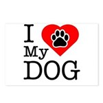 I Love My Dog Postcards (Package of 8)