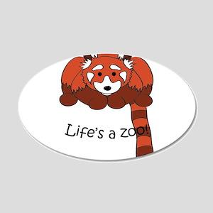 Red panda 22x14 Oval Wall Peel