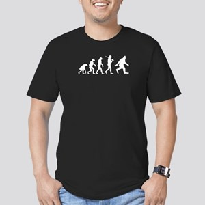 The Evolution Of Bigfoot Men's Fitted T-Shirt (dar