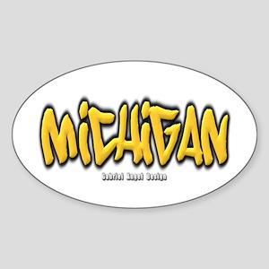Michigan Graffiti Sticker (Oval)
