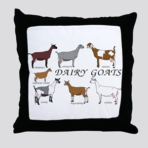 ALL Dairy Does Throw Pillow