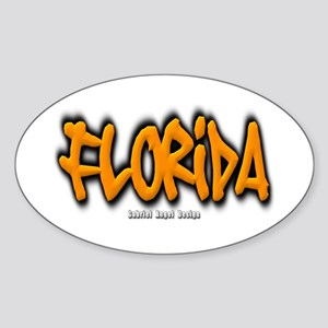 Florida Graffiti Sticker (Oval)
