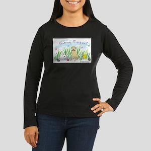 yellow lab Women's Long Sleeve Dark T-Shirt