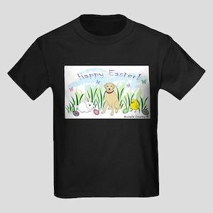 yellow lab Kids Dark T-Shirt