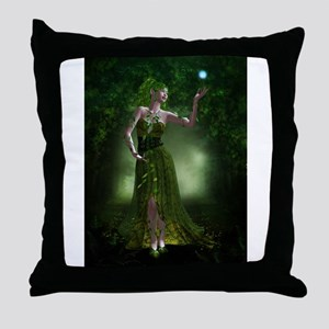 Green Fae Throw Pillow