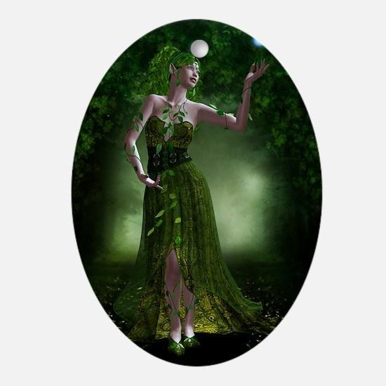 Green Fae Ornament (Oval)