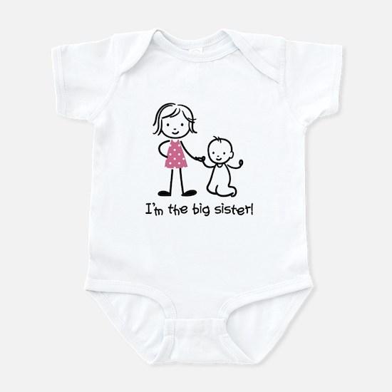 Big Sister - Stick People Infant Bodysuit