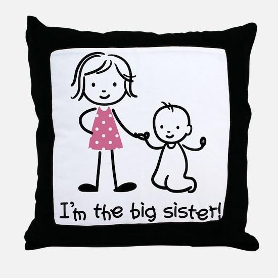 Big Sister - Stick People Throw Pillow