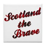 Scotland the Brave Tile Coaster