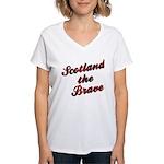 Scotland the Brave Women's V-Neck T-Shirt