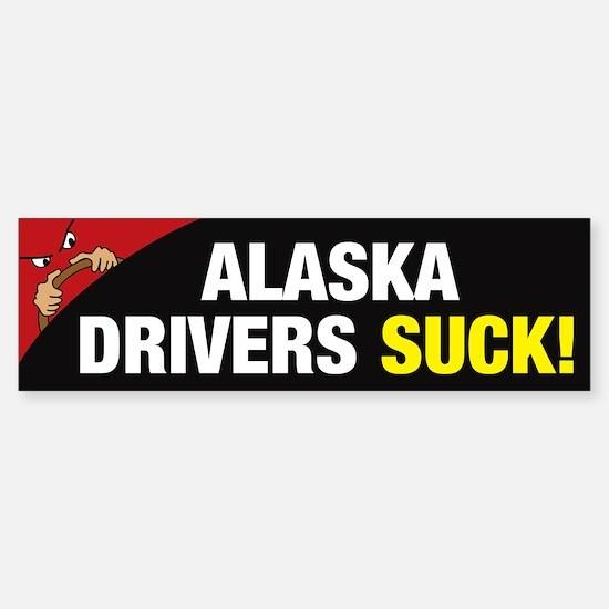 Alaska Drivers Suck Sticker (Bumper)