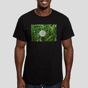 flower power dandelion Men's Fitted T-Shirt (dark)