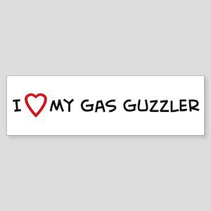 I Love My Gas Guzzler Bumper Sticker