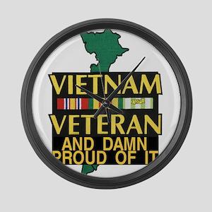 VIETNAM PROUD OF IT Large Wall Clock