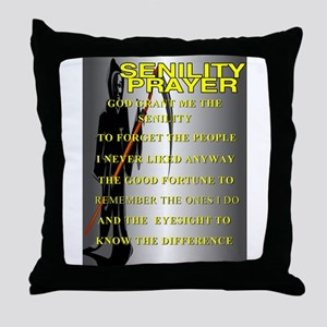 SENELITY PRAYER Throw Pillow