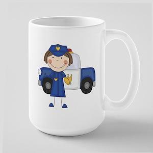 Female Police Officer Large Mug