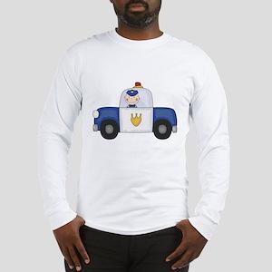 Police Officer in Cruiser Long Sleeve T-Shirt