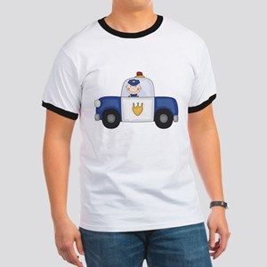 Police Officer in Cruiser Ringer T