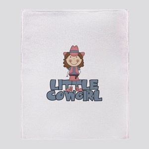Little Cowgirl Throw Blanket