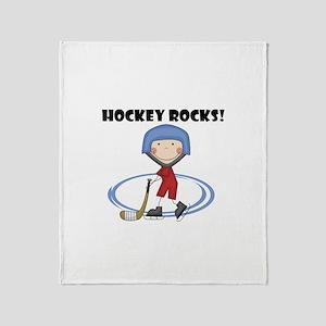 Hockey Rocks Throw Blanket