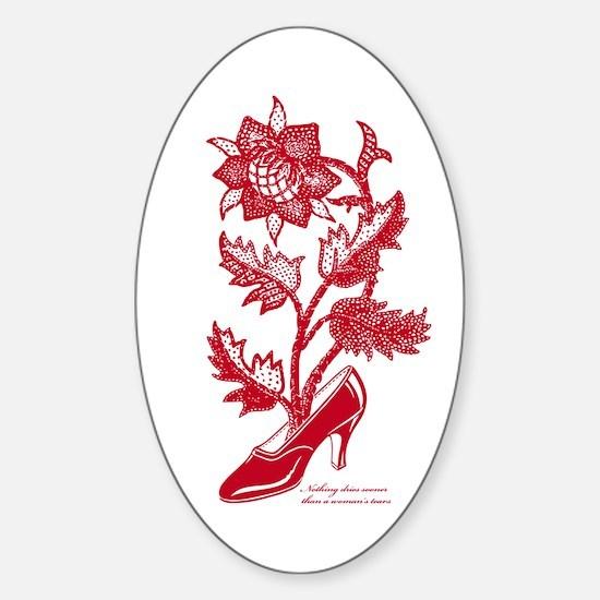 High heel's Flower R Sticker (Oval)
