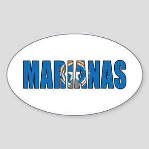 Marianas Sticker (Oval)