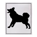 Malamute Silhouette Throw Blanket