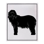 Bearded Collie Silhouette Throw Blanket