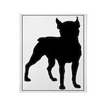 Boston Terrier Silhouette Throw Blanket