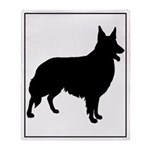 Collie Silhouette Throw Blanket
