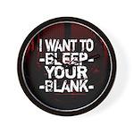 Bleep your Blank Wall Clock