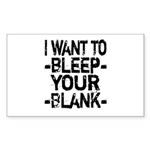 Bleep your Blank Sticker (Rectangle 10 pk)