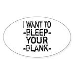 Bleep your Blank Sticker (Oval 50 pk)