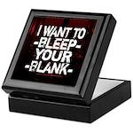 Bleep your Blank Keepsake Box