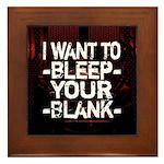 Bleep your Blank Framed Tile