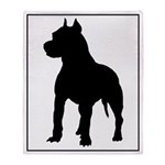 Pit Bull Terrier Silhouette Throw Blanket