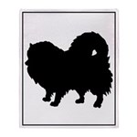 Pomeranian Silhouette Throw Blanket
