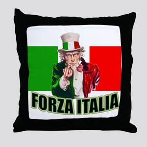 Uncle Sam goes to Italy Throw Pillow