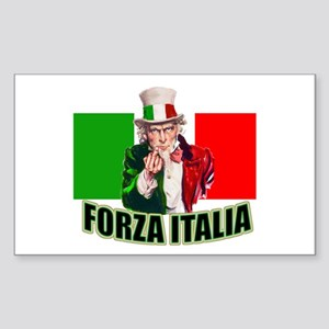 Uncle Sam goes to Italy Rectangle Sticker