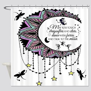 Talk To The Moon Shower Curtain