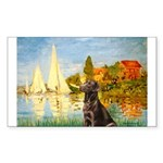 Regatta / Choc. Labrador Sticker (Rectangle)