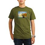 Regatta / Choc. Labrador Organic Men's T-Shirt (da