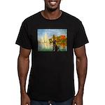 Regatta / Choc. Labrador Men's Fitted T-Shirt (dar