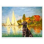 Regatta / Choc. Labrador Small Poster