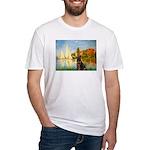 Regatta / Choc. Labrador Fitted T-Shirt