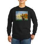 Regatta / Choc. Labrador Long Sleeve Dark T-Shirt