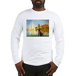 Regatta / Choc. Labrador Long Sleeve T-Shirt